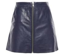 Leather Mini Skirt Midnight Blue Size 14