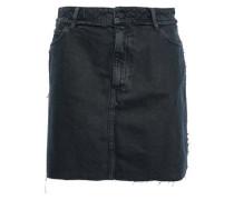 Cafe Frayed Denim Mini Skirt Navy