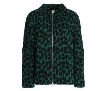 Printed cotton-blend cloqué jacket
