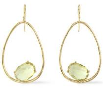 18-karat gold citrine earrings