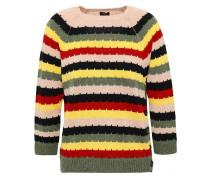 Intarsia Wool Sweater Multicolor