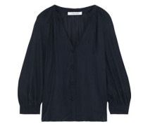 Washed-silk Blouse Navy