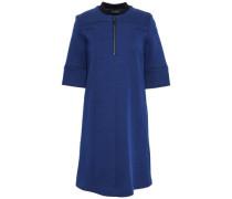 Cotton-blend Mini Dress Royal Blue