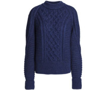 Cable-knit Wool Sweater Indigo