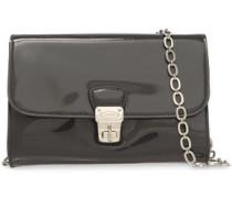 Patent-leather Shoulder Bag Charcoal Size --