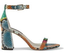 Woman Lillian Snake-effect Leather Sandals Multicolor