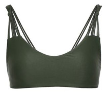 Madrid Knotted Bikini Top Army Green