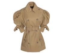 Gathered gabardine jacket