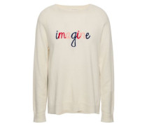 Intarsia Cashmere Sweater Ecru