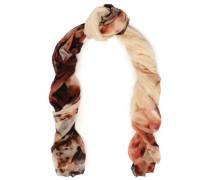 Printed cashmere-gauze scarf