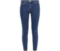 Cropped Mid-rise Skinny Jeans Dark Denim  3
