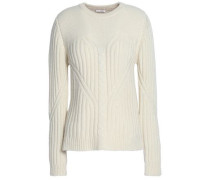 Ribbed-knit Wool And Cashmere-blend Sweater Ivory