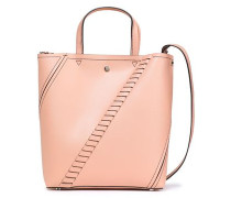 Whipstitched Leather Tote Blush Size --