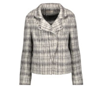 Esther checked brushed wool-blend jacket