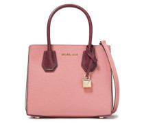 Woman Mercer Color-block Pebbled-leather Shoulder Bag Pink