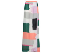 Printed Crepe Maxi Wrap Skirt Multicolor