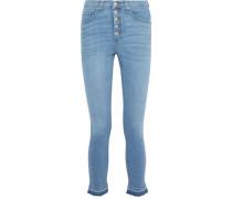 Debbie Faded High-rise Skinny Jeans Light Denim  6