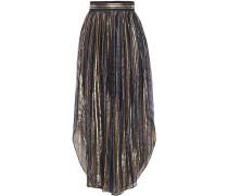 Metallic Striped Silk-blend Voile Culottes