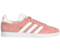 Gazelle Leather-trimmed Suede Sneakers Antique Rose