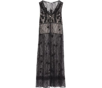 Fluted lace midi dress