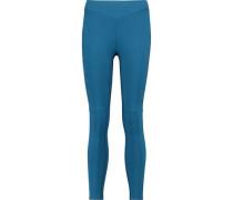 Printed stretch-knit leggings