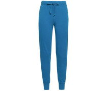 French Cotton-terry Track Pants Blue