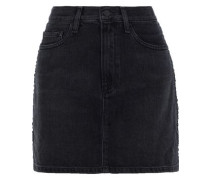 Le Studded Denim Mini Skirt Black  4