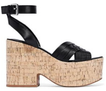 Becca Leather Platform Sandals Black