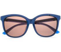 D-frame Printed Acetate Sunglasses Royal Blue Size --