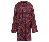 Woman Emma Printed Shell Hooded Jacket Claret