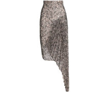 Draped corded lace skirt