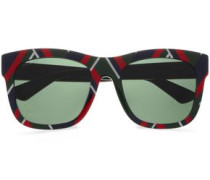 Woman D-frame Printed Acetate Sunglasses Multicolor