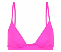 The Morgan Neon Triangle Bikini Top Bright Pink