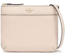 Textured-leather Shoulder Bag Cream Size --