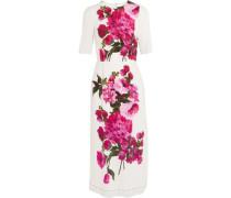 Woman Floral-print Crepe Dress White