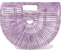 Ark Small Marbled Acrylic Clutch Lavender Size --