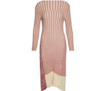 Marled ribbed cotton dress