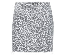 Leopard-print Denim Mini Skirt Animal Print  6