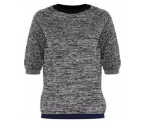 Marled Wool-blend Sweater Black
