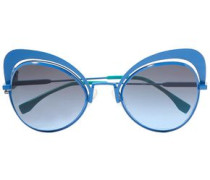 Cat-eye Metal Sunglasses Cobalt Blue Size --