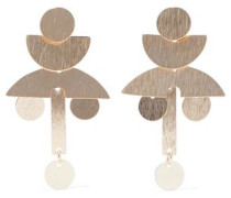 Victoria 18-karat Gold-plated Sterling Silver Earrings Gold Size --