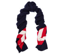 Intarsia-knit Wool And Cashmere-blend Scarf Navy Size --