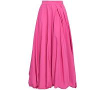 Pleated Poplin Maxi Skirt Fuchsia