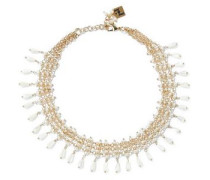Nuova Orchidea gold-plated, freshwater pearl and bead necklace