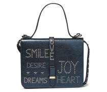 Studded Leather Shoulder Bag Midnight Blue Size --