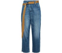 High--rise Straight-leg Jeans Mid Denim