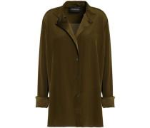 Silk-satin Shirt Army Green
