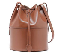 Leather Bucket Bag Light Brown Size --