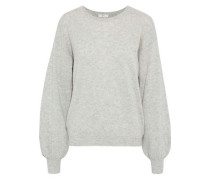 Airic Split-back Wool And Cashmere-blend Sweater Light Gray