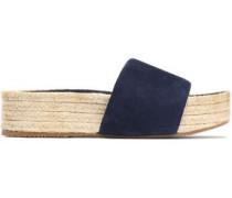 Suede platform espadrille sandals